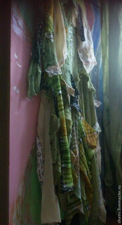Платья ручной работы. Ярмарка Мастеров - ручная работа. Купить бохо-платье ЗЕЛЕНАЯ ПАСТЕЛЬ. Handmade. Оливковый, бохо-стиль