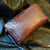 Сумки и аксессуары handmade. Livemaster - original item Men`s purse, made of genuine crocodile leather, exclusive painting. Handmade.