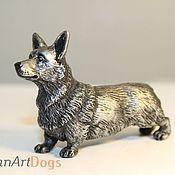 Для дома и интерьера ручной работы. Ярмарка Мастеров - ручная работа КОРГИ - статуэтка (оловянная миниатюрная фигурка собаки). Handmade.