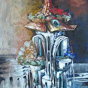 Картины и панно ручной работы. Ярмарка Мастеров - ручная работа Дом с бирюзовыми ставнями. Handmade.