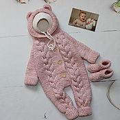 Одежда детская handmade. Livemaster - original item Jumpsuit for girls. Knitted Romper.. Handmade.
