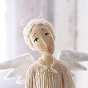 Куклы и игрушки ручной работы. Ярмарка Мастеров - ручная работа Ангел с птичкой. Handmade.