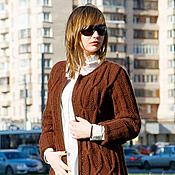Одежда ручной работы. Ярмарка Мастеров - ручная работа Пальто вязаное женское ШЕНОН шоколад. Handmade.
