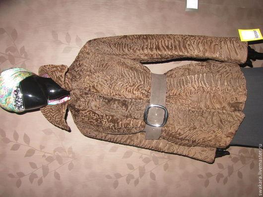 Верхняя одежда ручной работы. Ярмарка Мастеров - ручная работа. Купить Жакет из каракуля СВАКАРА шоколад. Handmade. Коричневый, каракульча