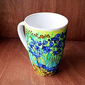 """Посуда ручной работы. Ярмарка Мастеров - ручная работа Кружка """"Ван Гог. Ирисы"""". Handmade."""