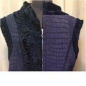 Одежда ручной работы. Ярмарка Мастеров - ручная работа Жилет из кожи крокодила и каракуля. Handmade.