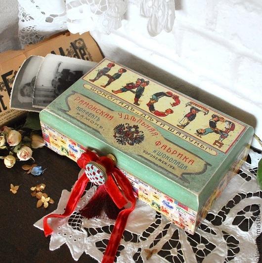 """Персональные подарки ручной работы. Ярмарка Мастеров - ручная работа. Купить """"Дети шалуны"""" именная шкатулка. Handmade. Разноцветный, подарок"""