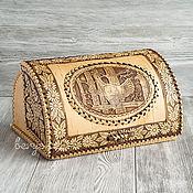 Русский стиль handmade. Livemaster - original item Bread box made of birch bark