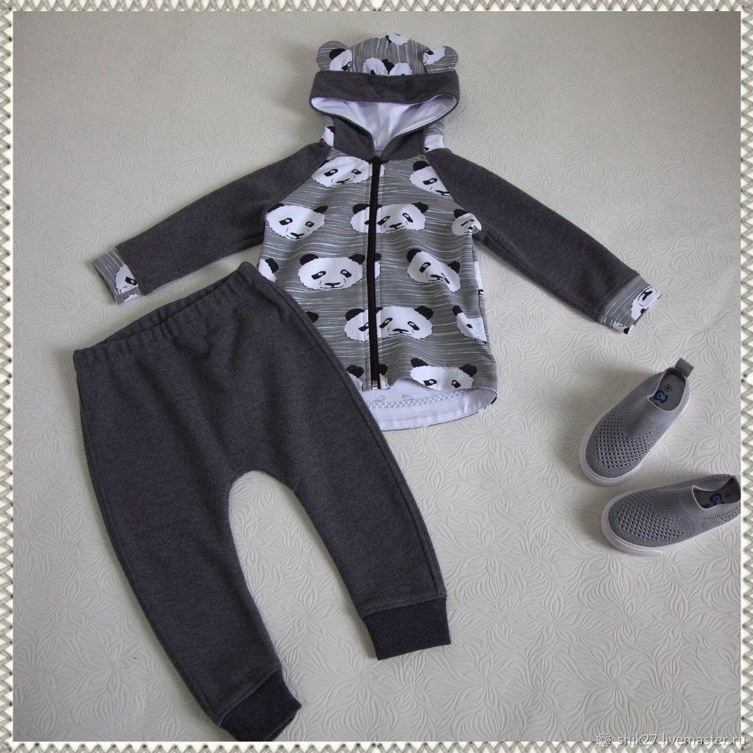Cotton children's costume from the footer Panda, Baby Clothing Sets, Khabarovsk,  Фото №1