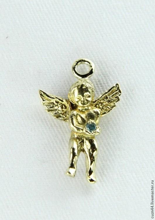 Миниатюрные модели ручной работы. Ярмарка Мастеров - ручная работа. Купить Ангел с фианитом. Handmade. Ангелочек, бронза, ангелы, ангелочки