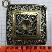 Материалы для творчества handmade. Livemaster - original item Pendant-pendant for cabochon. Handmade.