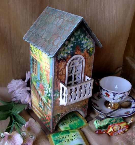 """Кухня ручной работы. Ярмарка Мастеров - ручная работа. Купить """"Солнечный дворик""""Чайный домик. Handmade. Рыжий, дача, балкон"""