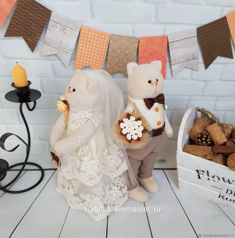 Свадебные игрушки коты. Необычный подарок на свадьбу айвори, Подарки, Изобильный, Фото №1