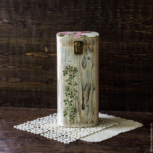 """Корзины, коробы ручной работы. Ярмарка Мастеров - ручная работа. Купить Короб для спагетти """"Rose"""". Handmade. Белый, трафарет для декупажа"""