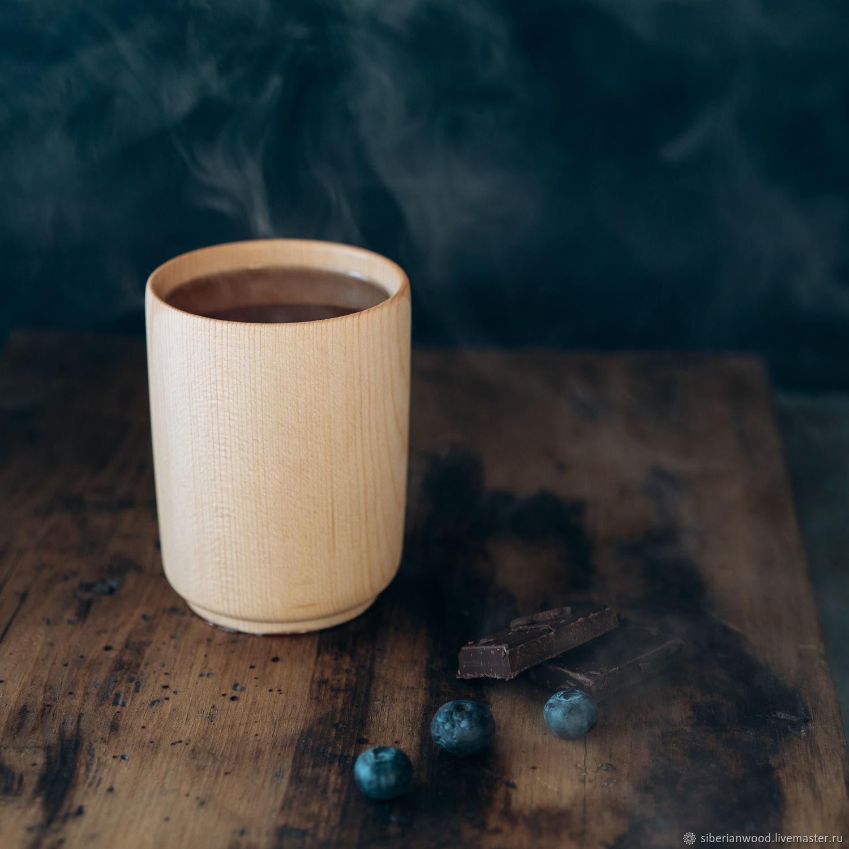 Drink glass made of natural wood Siberian cedar C45, Water Glasses, Novokuznetsk,  Фото №1