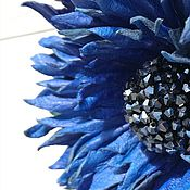 Украшения handmade. Livemaster - original item Leather flowers. Cornflower leather.. Handmade.