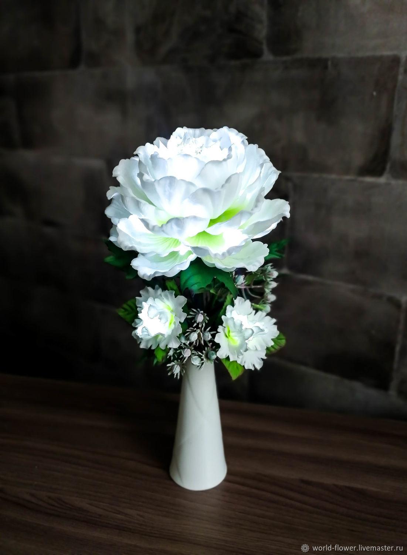 Flower-night light ' White peony', Nightlights, Surgut,  Фото №1