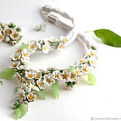 Украшения handmade. Livemaster - original item Jewelry set necklace and earrings flowers