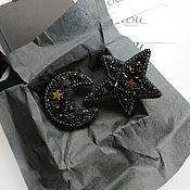 Украшения handmade. Livemaster - original item The Month brooch, brooch Star. Set of brooches