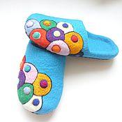 """Обувь ручной работы. Ярмарка Мастеров - ручная работа домашние тапочки """"Настроение"""". Handmade."""