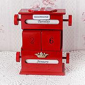 """Канцелярские товары handmade. Livemaster - original item Perpetual calendar """"London"""". Handmade."""