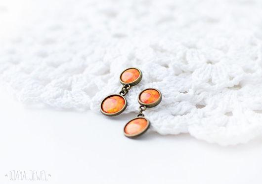 Серьги ручной работы. Ярмарка Мастеров - ручная работа. Купить Серьги Orange dots (Оранжевые точки). Handmade. Желтые точки