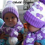 Работы для детей, ручной работы. Ярмарка Мастеров - ручная работа детская шапка зимняя и шарф. Handmade.