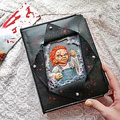 Канцелярские товары handmade. Livemaster - original item Notepad with Chucky. Handmade.