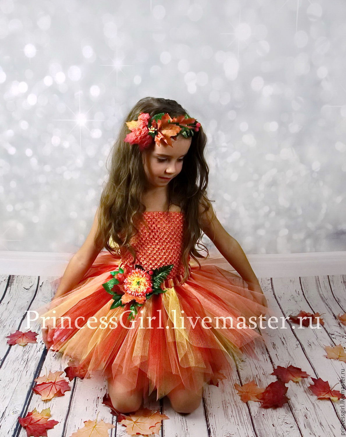 Autumn suit for girls, Carnival costumes for children, Moscow,  Фото №1