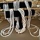 Авторские украшения из жемчуга купить модную оригинальные бижутерия на шею колье жемчужное ожерелье бусы ручной работы Светланы Молодых