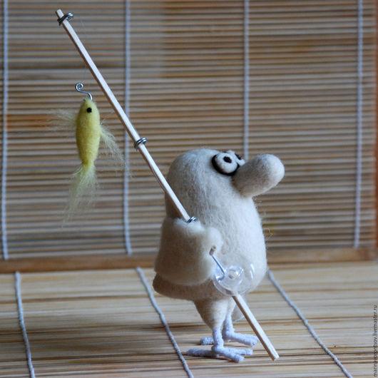 Свалянная из шерсти Птичка из книги `Маленькие, но гордые птички` художника Николая Воронцова( Микола или дядя Коля Воронцов).