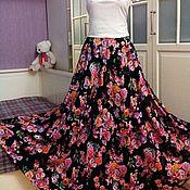 Одежда ручной работы. Ярмарка Мастеров - ручная работа Штапельная юбка в пол Верона. Handmade.