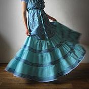 Одежда ручной работы. Ярмарка Мастеров - ручная работа Платье Морская Волна. Handmade.