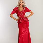 Одежда handmade. Livemaster - original item Evening raspberry dress. Handmade.
