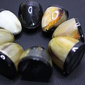 Материалы для творчества handmade. Livemaster - original item Beads Buffalo Horn Zebu Hat 22h23mm. Handmade.