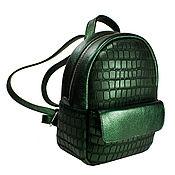 """Рюкзаки ручной работы. Ярмарка Мастеров - ручная работа Рюкзак """"Жук Бронзовка"""", натуральная кожа, зеленый, арт.04. Handmade."""