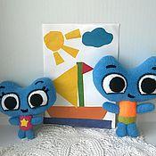 Куклы и игрушки handmade. Livemaster - original item Kitty and Kate seals forward. Handmade.
