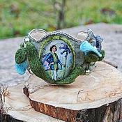 "Украшения handmade. Livemaster - original item Embroidered bracelet ""The flower elf"". Handmade."