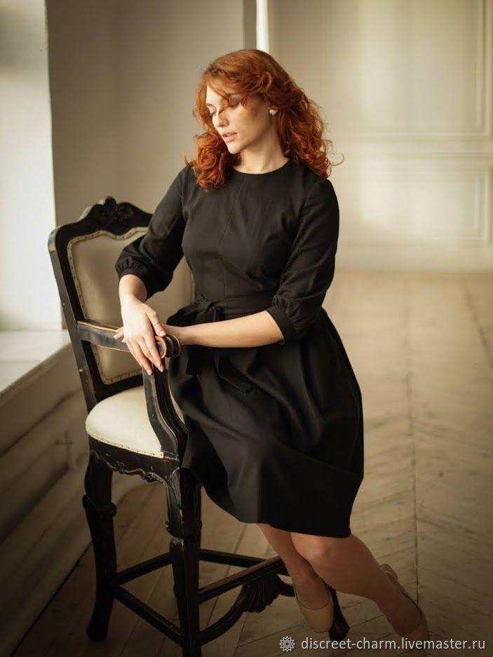 Черное хлопковое платье на каждый день, на молнии, с пышной юбкой, Платья, Томск,  Фото №1