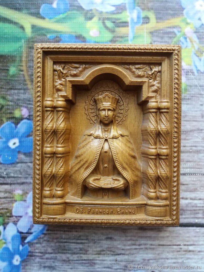 Икона резная Святая равноапостальная царица Елена, Иконы, Красный Сулин,  Фото №1