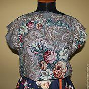 Одежда ручной работы. Ярмарка Мастеров - ручная работа блуза из павловопосадского платка 1. Handmade.