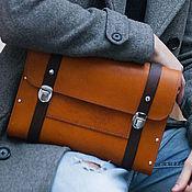 Мужская сумка ручной работы. Ярмарка Мастеров - ручная работа Мужская сумка из кожи и дерева Citrus женский портфель. Handmade.