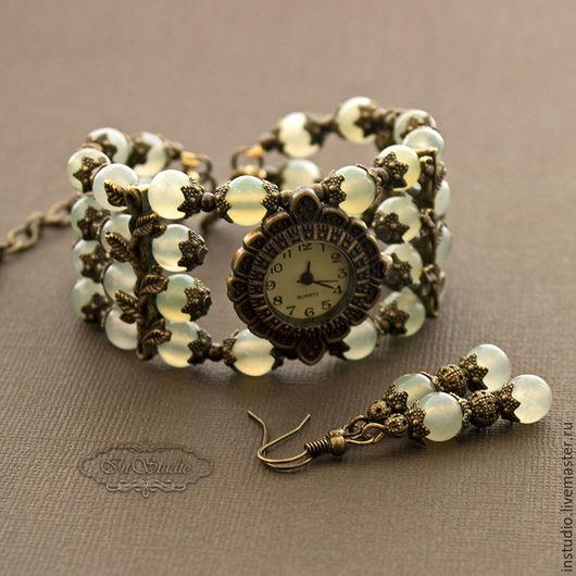Часы ручной работы. Ярмарка Мастеров - ручная работа. Купить Часы браслет из нефрита Нефертити. Handmade. Украшения ручной работы