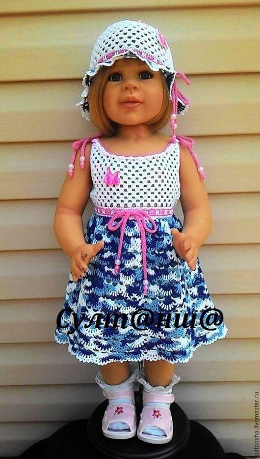 Одежда для девочек, ручной работы. Ярмарка Мастеров - ручная работа. Купить ЛЕТНИЙ КОМПЛЕКТ ДЛЯ ДЕВОЧКИ. Handmade. Комбинированный