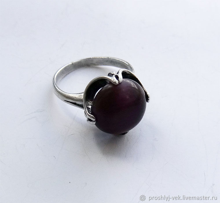Cat's eye ring 90's, Vintage ring, Moscow,  Фото №1
