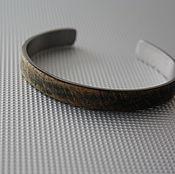 Украшения handmade. Livemaster - original item Bracelet made of Medical steel and ebony. Handmade.