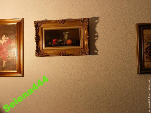 Винтажные предметы интерьера. Ярмарка Мастеров - ручная работа. Купить Немецкий натюрморт Seekatz масло. Handmade. Разноцветный