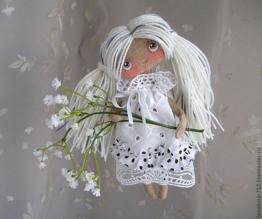 Ароматизированные куклы ручной работы. Ярмарка Мастеров - ручная работа. Купить Анечка. Handmade. Белый, коллекционная кукла, горох, дача