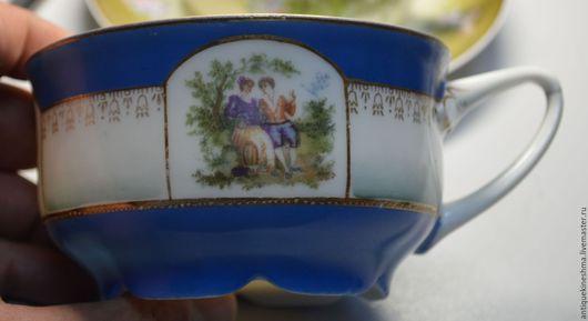 Винтажная посуда. Ярмарка Мастеров - ручная работа. Купить Чашка широкая ф-ка в Бронницах Пролетарий 20-30 года. Handmade.