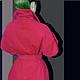 """Верхняя одежда ручной работы. пальто-кокон  на синтепоне """"Красное """". Лана КМЕКИЧ de Marlen (lanakmekich). Интернет-магазин Ярмарка Мастеров."""